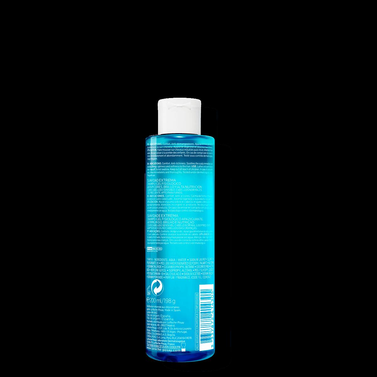 La Roche Posay ProductPage Kerium Extra Gentle Gel Shampoo 200ml 33378
