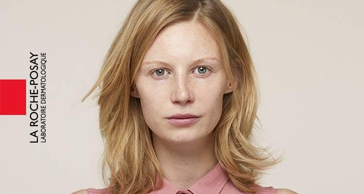 x La Roche Posay Sensitive Toleriane Make up Jessica Before
